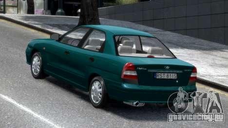 Daewoo Nubira II Sedan S PL 2000 для GTA 4 вид сзади слева