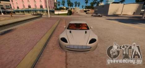 Aston Martin DB9 Vice City Deluxe для GTA 4 вид изнутри