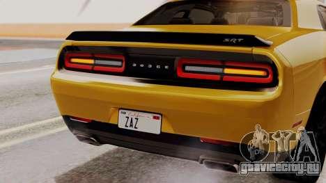 Dodge Challenger SRT Hellcat 2015 IVF PJ для GTA San Andreas вид снизу