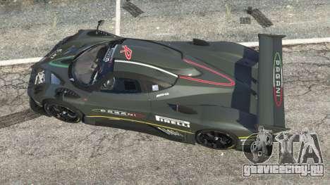 Pagani Zonda R 2009 v0.5 для GTA 5 вид сзади