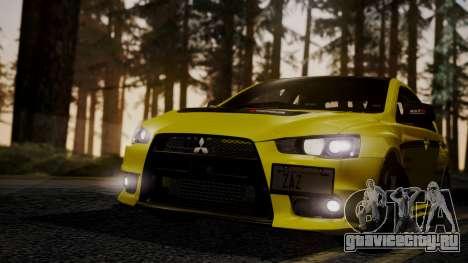 Mitsubishi Lancer Evolution X 2015 Final Edition для GTA San Andreas