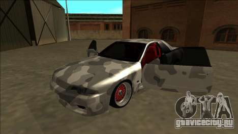 Nissan Skyline R32 Army Drift для GTA San Andreas вид сзади
