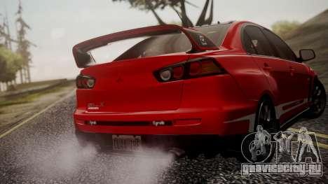 Mitsubishi Lancer Evolution X 2015 Final Edition для GTA San Andreas колёса