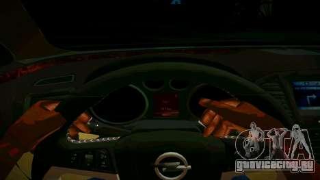 Opel Insignima SCREAM для GTA San Andreas вид изнутри