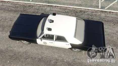 Dodge Polara 1971 Police v4.0 для GTA 5 вид сзади