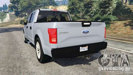 Ford F-150 2015 для GTA 5 вид сзади слева