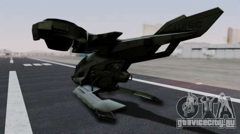 Hornet Halo 3 для GTA San Andreas вид сзади слева
