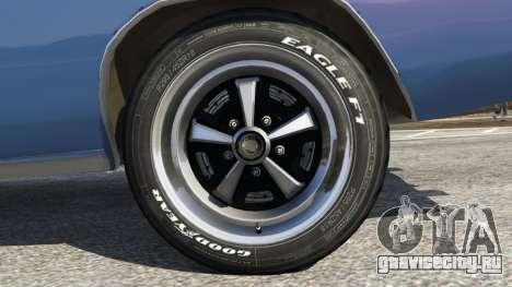 Dodge Charger RT 1970 v3.0 для GTA 5 вид сзади