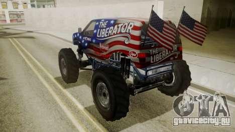 GTA 5 Vapid The Liberator для GTA San Andreas вид сбоку