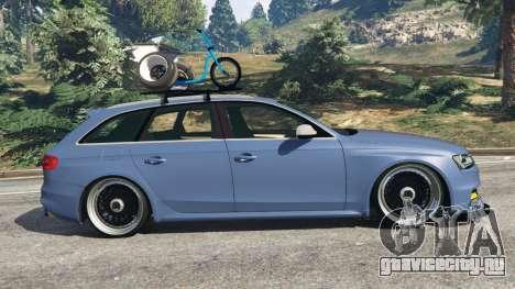 Audi RS4 Avant 2014 для GTA 5 вид слева