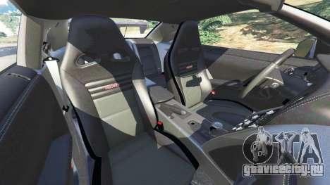 Nissan GT-R (R35) [RocketBunny] для GTA 5 руль и приборная панель