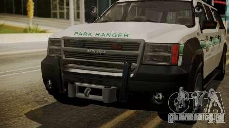 GTA 5 Declasse Granger Park Ranger IVF для GTA San Andreas вид сбоку