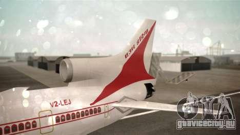 Lockheed L-1011 Air India для GTA San Andreas вид сзади слева