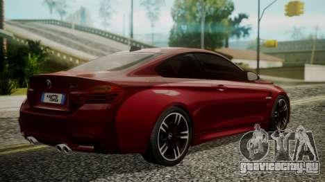 BMW M4 Coupe 2015 Walnut Wood для GTA San Andreas вид слева