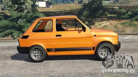 Fiat 126p v1.0 для GTA 5 вид слева
