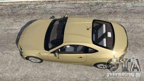 Toyota GT-86 v1.4 для GTA 5 вид сзади