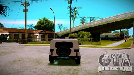 УАЗ Хантер Служба ППС для GTA San Andreas вид справа