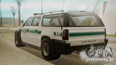 GTA 5 Declasse Granger Park Ranger для GTA San Andreas вид слева