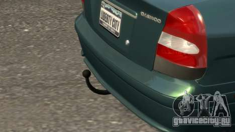 Daewoo Nubira II Sedan SX USA 2000 для GTA 4 вид снизу