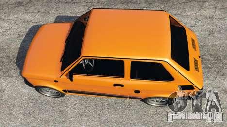 Fiat 126p v1.0 для GTA 5 вид сзади
