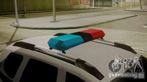 Renault Duster Patrulla Policia Colombiana для GTA San Andreas вид сзади
