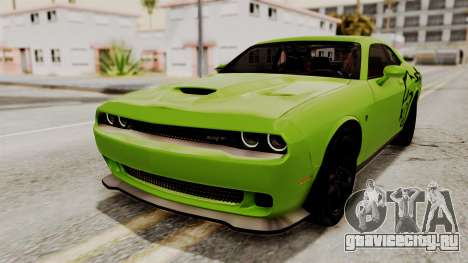 Dodge Challenger SRT Hellcat 2015 IVF PJ для GTA San Andreas колёса