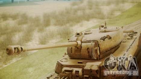 Heavy Tank M6 from WoT для GTA San Andreas вид справа