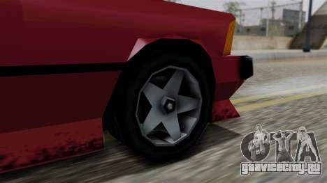 Sentinel XL from Vice City Stories для GTA San Andreas вид сзади слева