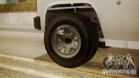 GTA 5 Declasse Rancher XL Police для GTA San Andreas вид сзади слева