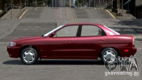 Daewoo Nubira I Sedan SX USA 1999 для GTA 4 вид слева