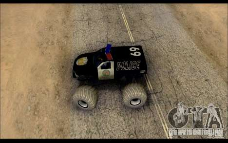 The Police Monster Trucks для GTA San Andreas вид справа