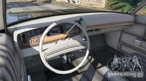 Dodge Polara 1971 Police v4.0 для GTA 5 вид сзади справа