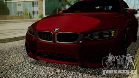 BMW M4 Coupe 2015 Walnut Wood для GTA San Andreas вид сбоку
