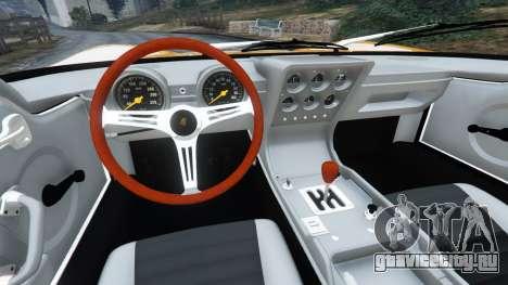 Lamborghini Miura P400 1967 для GTA 5 вид сзади справа