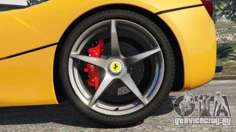 Ferrari LaFerrari 2013 v3.0 для GTA 5 вид сзади справа
