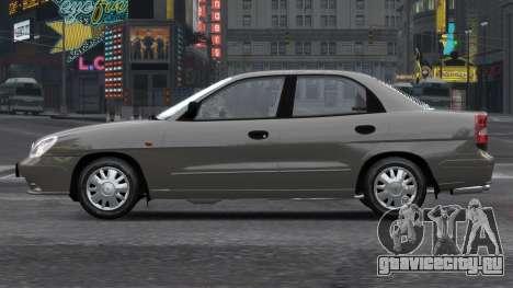 Daewoo Nubira II Sedan S PL 2000 для GTA 4 вид сбоку