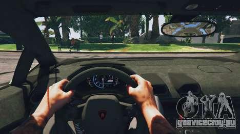 LibertyWalk Lamborghini Huracan для GTA 5 вид сзади