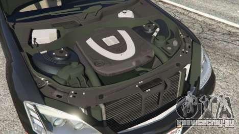 Mercedes-Benz S600 (W221) 2009 для GTA 5 вид сзади
