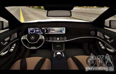 Mercedes Benz S63 W222 Качественный Сток для GTA San Andreas вид снизу