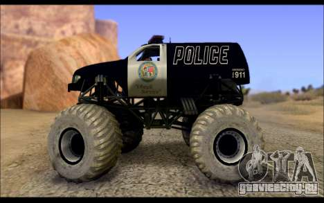 The Police Monster Trucks для GTA San Andreas вид слева