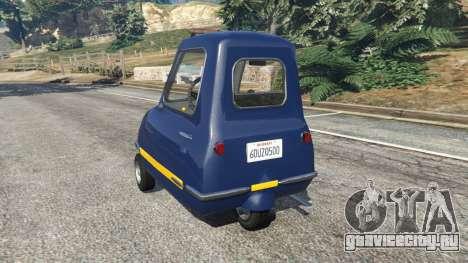 Peel P50 Police для GTA 5 вид сзади