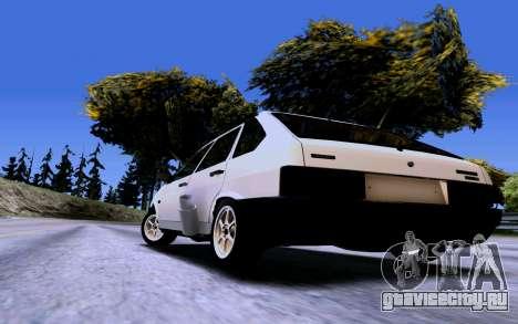 ВАЗ 2109 Турбо для GTA San Andreas вид сзади
