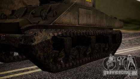 Sherman MK VC Firefly для GTA San Andreas вид сзади слева