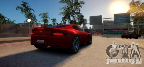 Aston Martin DB9 Vice City Deluxe для GTA 4 вид справа