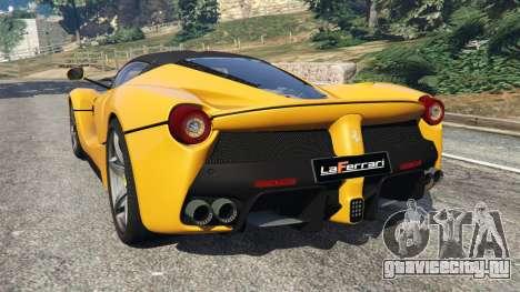 Ferrari LaFerrari 2013 v3.0 для GTA 5 вид сзади слева