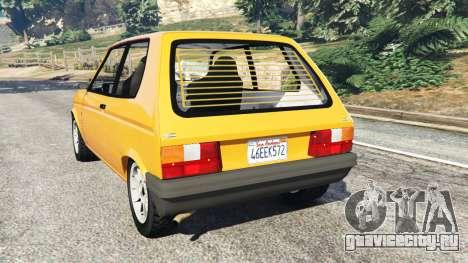 Talbot Samba для GTA 5 вид сзади слева