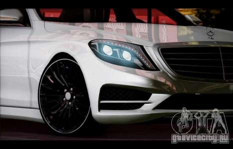 Mercedes Benz S63 W222 Качественный Сток для GTA San Andreas вид сверху