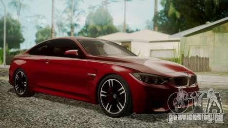 BMW M4 Coupe 2015 Walnut Wood для GTA San Andreas
