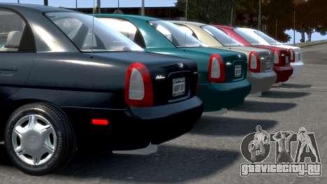 Daewoo Nubira I Sedan SX USA 1999 для GTA 4 колёса