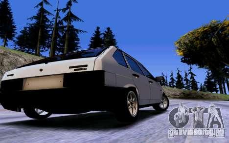 ВАЗ 2109 Турбо для GTA San Andreas вид изнутри